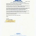 Suss Buick Endorsement Letter for Wash On Wheels