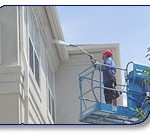 Bradford Suites exterior building pressure washing by Wash On Wheels