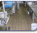 Embassy Suites kitchen pressure washed by Wash On Wheels