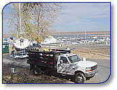 Chatfield Marina's annual boat wash done by Wash On Wheels