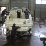 Boat Cleaning and Detailing at Wash On Wheels Shop