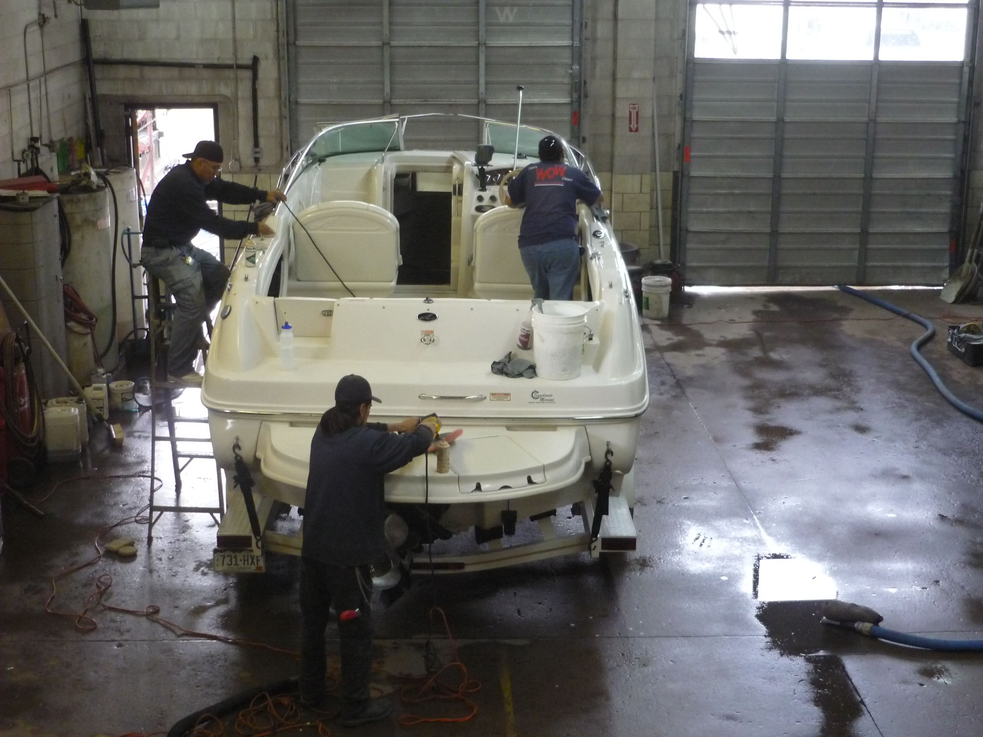 Ship Cleaning Services : Wash on wheels boat cleaning detailing and polishing