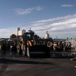 Loaders & Forklifts Pressure Washed With Water Recovery For Waste Management