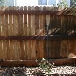 Wood Fence Damaged By Amateur Pressure Washing Company