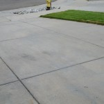 Driveway After Pressure Washing Grease Spill