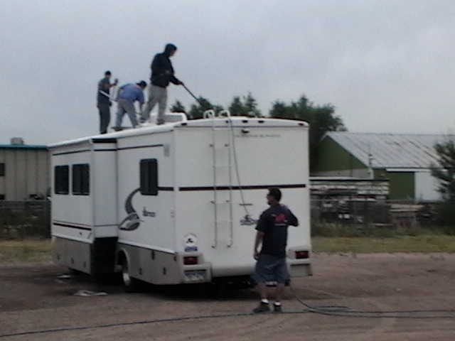 Pressure Washing An Rv Roof