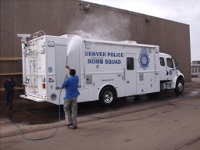 Denver Police Truck Washing 8