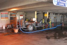 Water Recovery In A Parking Garage