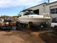 Boat cleaning at our shop in Denver