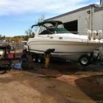 Boat cleaning at our shop in Denver 03