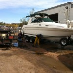 Boat cleaning at our shop in Denver 04