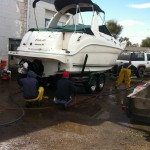 Boat cleaning at our shop in Denver 02