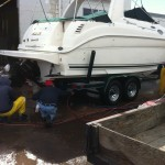 Boat cleaning at our shop in Denver 07