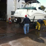 Boat cleaning at our shop in Denver 08
