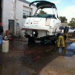 Boat cleaning at our shop in Denver 09