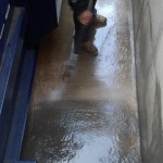 Pressure Washing A Trash Pit At Denver University 11