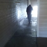 Pressure Washing Apartment Building Breezeways 09
