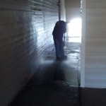 Pressure Washing Apartment Building Breezeways 07