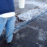 Pressure Washing Denver Sidewalks In The Winter - Video 10