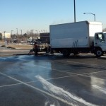 Pressure Washing Denver Sidewalks In The Winter - Video 06