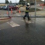 Pressure Washing With Water Recovery At A Construction Site 04